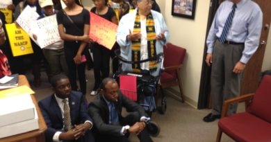 NAACP National President and Students Holding Sit-In at Congressman's District Office