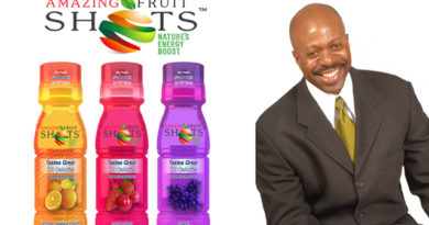 Maurice Singleton III  launchs new natural beverages, Amazing Fruit Shots