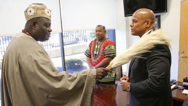 Nigerian King Blesses Hospital President