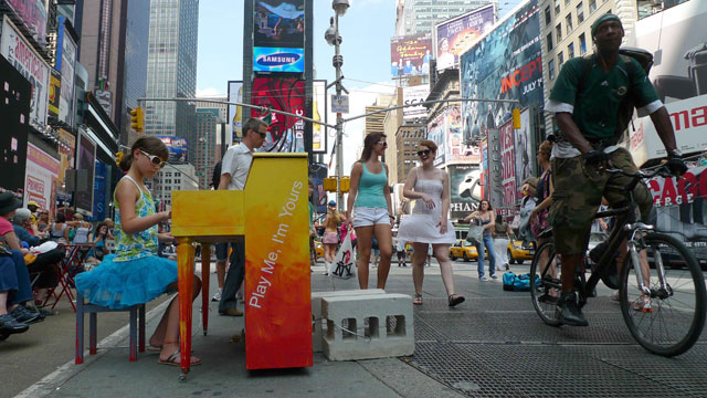 Sixty pianos installed on the streets of NYC