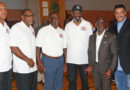 The Fathers and Men of Professional Basketball Players visit Queens