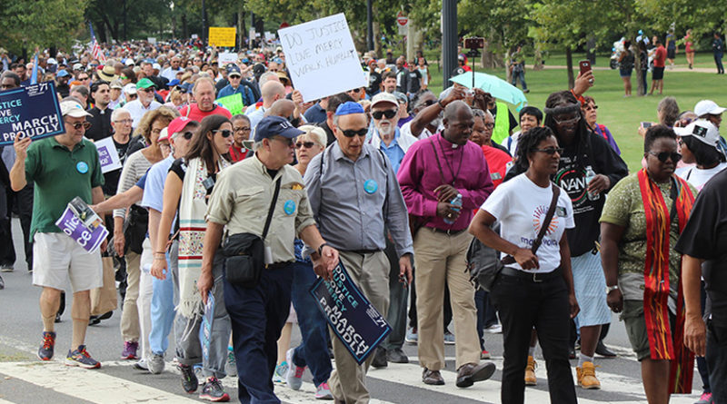 In Washington, clergy demonstrate against white supremacy