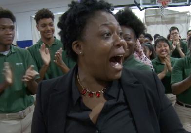 NEWARK SCHOOL LEADER SURPRISED WITH PRESTIGIOUS $25,000 RYAN AWARD FOR CLOSING THE ACHIEVEMENT GAP