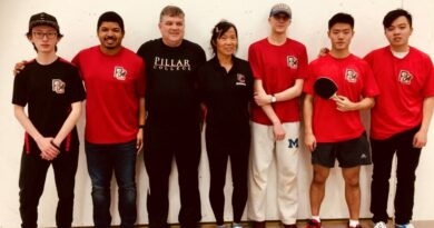 Pillar College Ping Pong Team Takes First Place in PA District Tournament