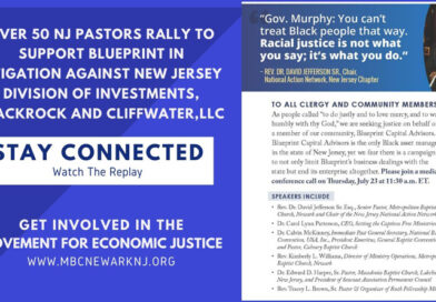 Pastors Rally to Support Blueprint in Litigation against NJ Div. of Invt. BlackRock & Cliffwater,LLC